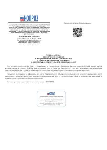 НОПРИЗ-Мелконян Н.А.